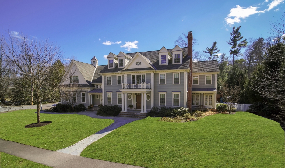 Big mansion with front porch
